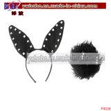 Bijou de cheveu de lapin de nouveauté d'accessoires de costume d'usager (P4036)