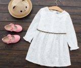 Vestito bianco da estate di modo dei pannelli esterni delle ragazze dei bambini