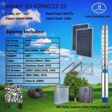 насос полива 6inch 22kw, Borehole наилучшим образом, солнечная насосная система погружающийся