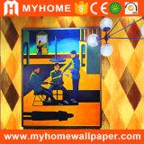 Papel pintado 2017 del PVC de la sala de estar del fondo de Guangzhou TV