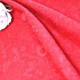 Tecido Jacquard de poliéster de poliéster 100% para Ms. Skirt Coat