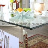 Подгонянная стеклянная обедая таблица с светом СИД