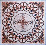 Mosaico di marmo naturale di arte con la maschera del fiore per la decorazione del pavimento