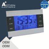Часы таблицы Dcf Radio Controlled цифров с часовым поясом мира