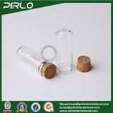 5ml om Fles van het Glas van het Meetapparaat van het Parfum van de Essentiële Olie van het Flesje van het Glas van de Bodem de Duidelijke met de Houten Cork Lege 5ml Kosmetische Fles van de Kurk