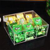 Коробка пакетика чая изготовленный на заказ качества еды акриловая