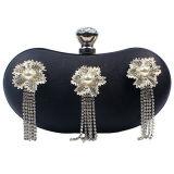 Shinny el bolso Eb670 de las mujeres del diseño de la borla de la flor de los bolsos de las señoras de las tardes