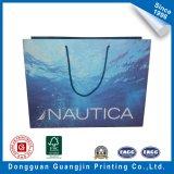 Qualitäts-blaues Wasser-gedruckte PapierEinkaufstasche für Kleid-Verpackung