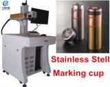 preço da máquina da marcação do laser da cor da fibra do aço inoxidável do metal do logotipo de 20W 30W