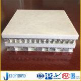 Comitato di alluminio di marmo di pietra leggero del favo della facciata bianca per i materiali da costruzione