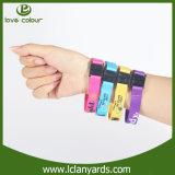 Bracelets lisses de polyester de textile bon marché fait sur commande chaud de la chaleur