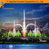 Fuente al aire libre de la piscina de la música con las lámparas cambiantes del color