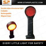Luz Direccional Rojo LED Rechargeable Expandible para Seguridad Vial
