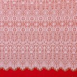 Tessuto stampato africano del ricamo della maglia del merletto del poliestere chimico variopinto del tessuto per il vestito dalla molla