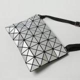 マット黒いPUの斜方形の幾何学的な女性袋(A074-3)