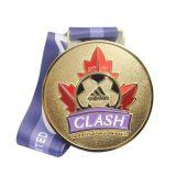 2.o medallón del fútbol del balompié del deporte de cobre barato de Costom para el acceso unido