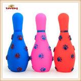 Juguete chillón del perro encantador del bowling del juguete del vinilo del animal doméstico (KB1047)