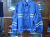 Vlam van Workwear Mens van de veiligheid de Weerspiegelende - het Overhemd en de Broek van de vertrager