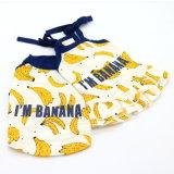 Vêtements sport de crabot de T-shirt d'animal familier de banane