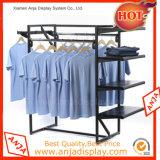 Présentoir de vêtement d'acier inoxydable pour le système