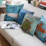 Personalizado de algodón de descuento cubiertas de cojín de lino para sofá