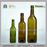 bottiglia di vetro del Bordeaux di piccola dimensione 187ml nel colore verde scuro (NA-044)