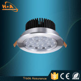 Luz de teto residencial do diodo emissor de luz da liga de alumínio 9W de dispositivos elétricos claros