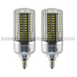La luz E12 25W del maíz del LED refresca la lámpara de plata blanca del bulbo de la carrocería LED del color