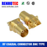 75ohm HD SDI Gold überzog weibliche BNC Verbinder der Rand-Montierungs-