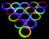 Bracelet tricolore de lueur