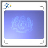 Cartão da Anti-Falsificação do PVC com a película e o Microtexts da folha de prova do holograma