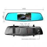 5.0 carro DVR do sensor HD 1080P de G do espelho de opinião traseira da polegada