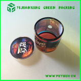 Rosafarbenes ovales verpackenplastikgefäß für Süßigkeit