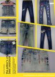 Jeans ricamati scarni delle ragazze (R23)