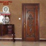 Interior cinzelado clássico da porta da madeira contínua para a casa de campo do apartamento (GSP2-018)