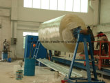 Tipo horizontal FRP o máquina de enrollamiento del tanque de GRP