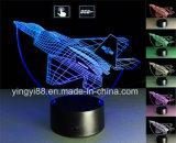 Свет ночи прямой связи с розничной торговлей акриловый СИД фабрики, акриловый домашний светильник декора 3D