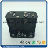 держатель батареи 8AA с щелчковым разъемом 9V