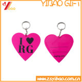 선전용 선물 (YB-PK-03)를 위한 주문을 받아서 만들어진 연약한 PVC 열쇠 고리
