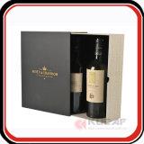 Напечатанная таможней коробка подарка стекла вина бумаги высокого качества