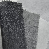 Unión térmica doble punto de fusión no tejido de poliéster Tela interlínea