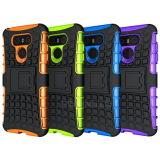Caja híbrida del teléfono de la PC TPU Kickstand para LG G6
