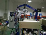 Hot Stamping Foil de superficie plana etiqueta troquelado con la máquina que raja