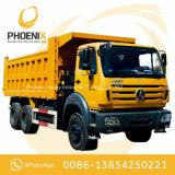 아프리카를 위한 벤즈 기술을%s 가진 사용된 Beiben 덤프 트럭 팁 주는 사람 12 바퀴