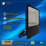 110lm/W와 270 도 광속 각을%s 가진 옥외 240W LED 플러드 빛 3 년 보장 IP65