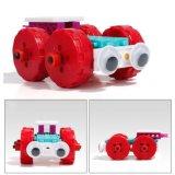 14885503-4 nos veículos 1 mudou o brinquedo creativo educacional 48PCS ajustado blocos do jogo DIY do bloco (o triciclo Car- Car- abundante do Forklift-)