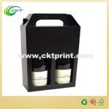 ورق مقوّى خمر مقبض يعبّئ صندوق لأنّ زجاجة ([كت-كب-121])