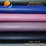 Qualitäts-synthetisches Leder für Schuh mit geprägter Oberfläche Fpe17m6g
