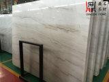 Слябы Guangxi естественного каменного китайского начала белые мраморный белые мраморный для плакирования Countertop/настила/стены