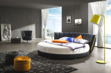 새로운 우아한 디자인 침실을%s 현대 진짜 가죽 침대 (HC325)